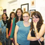 Ms. Kelly Pelka, Jillian, Claire, Teagan and Monica at opening night of BTC Fall 2010