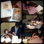 Art night with The Najera Family!