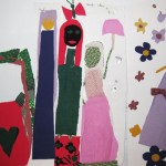 Art work from the Re-Art class using found fabric