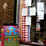 It&#039;s Raining Cats and Dogs! Rain barrel designed by youth art mentor Mindy Fisher along with youth artists 2009