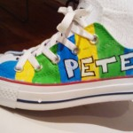 Shoe designed by Peter, from the Draw It, Paint It, Wear It class.