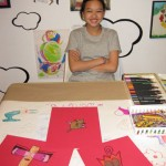 Maeve working on her new series May 2011