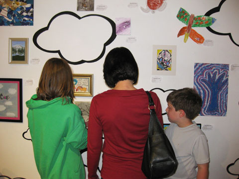 """The """"Fleischer Family"""" enjoying the art at the """"Art in the Air"""" exhibit May 2011"""