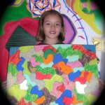 Youth artist Anna with was inspired by New Mexico artist Philip Virgil in the What Is Art class