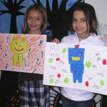Youth Artists Anna and Emma were inspired by Oregon artist Meredith Dittmar in the What Is Art? class