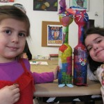 Youth Artists Bella and Sami in the Art for Us class