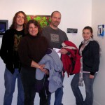 The Yaussy Family attends teen artist Teagan's art opening at the 2009 Smartshow at the Flat Iron Building in Chicago