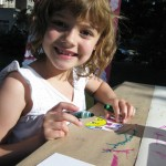 Oona and her art at A Day in Our Village 2011