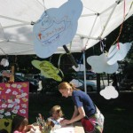 Artists participating in our Think Art! Mural and Installation at A Day in Our Village 2011
