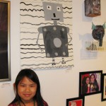 Anna and her robot during our Spring art show.